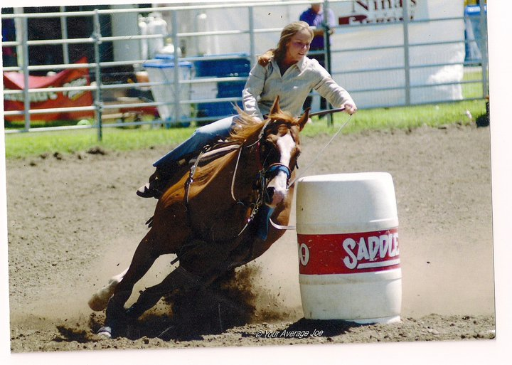 Shannon Barnes (owner/instructor) Barrel Racing